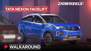 Tata Nexon Facelift Walkaround   What's Different?   Zigwheels.com