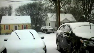 Time Lapse Video Lakeside VA Snowstorm - View from the Front Window. Winter Storm Jonas