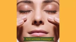 Anti wrinkle face massage. Rejuvenation min 10 years after two weeks.