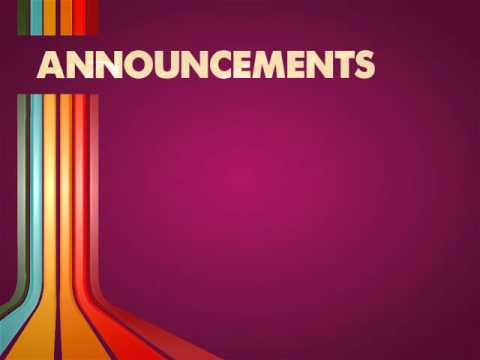 Announcement Background Video Loops