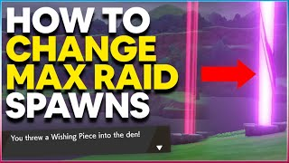 How to CHANGE MAX RAID BATTLE POKEMON SPAWNS in Pokemon Sword and Shield | Wishing Piece Trick!
