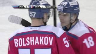 Первый гол Александра Большакова в КХЛ / Alexander Bolshakov first KHL goal