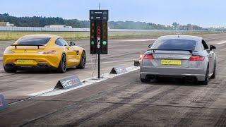 Audi TTRS Quattro (880HP) vs Mercedes AMG GTS (850HP) & Porsche 991 Turbo S (730HP)