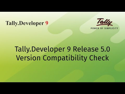 Tally Developer 9 - The Development Platform of Tally ERP 9