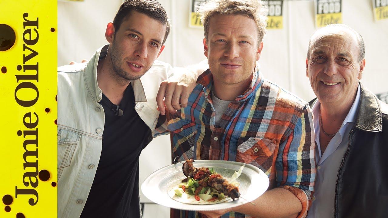 BBQ Pork Skewers with Jamie, Gennaro & Example