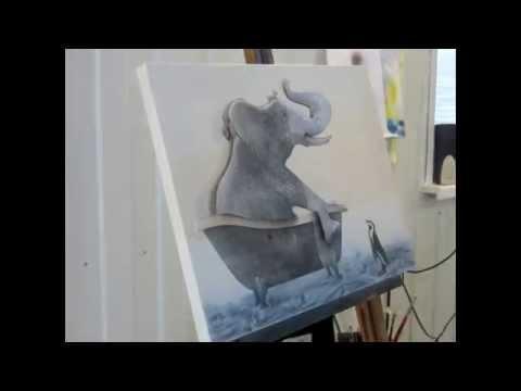 Слоненок в ванной. elephant tube