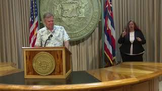 Governor David Ige gives update on state of coronavirus in Hawaii
