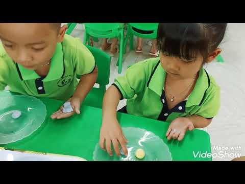Các bé lớp MG 4-5 tuổi B4 trường mầm non Đồng Sơn vui tết hàn thực 2021