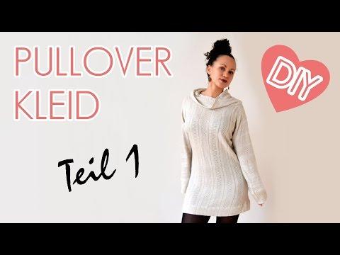 DIY Oversized Pullover / Kleid mit Kragen - Nähen für Anfänger - Teil 1