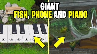 Visit an Oversized Phone, Piano, Giant Dancing Fish trophy - WEEK 2 CHALLENGE S9 LOCATION!