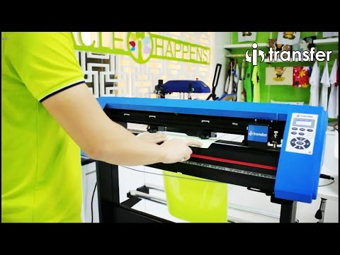"i-Transfer® CPM-09 24"" Cutter Plotter Contour Operation on Heat Transfer Vinyl Tutorials"