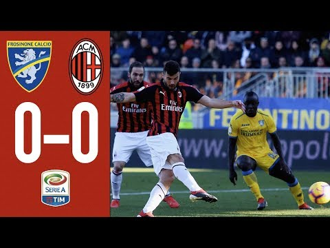Highlights Frosinone 0-0 AC Milan - Matchday 18 Serie A 2018/19