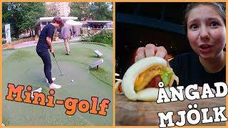 Äter ångad Mjölk Och Spelar Mini Golf   Vlogg