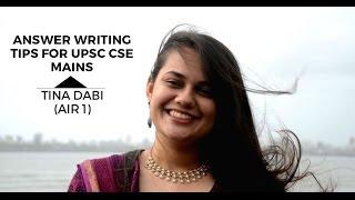AIR 1 Tina Dabi's Answer Writing Tips for UPSC CSE Mains by Tina Dabi - Unacademy