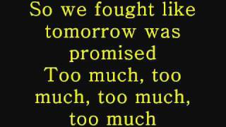 All Time Low - Too Much [Lrics on Screen]