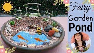 Fairy Garden Pond ~ DIY