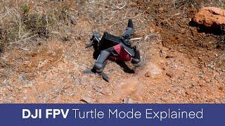 DJI FPV Turtle Mode #short