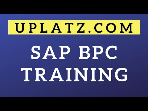 SAP BPC Training & Certification | SAP Business Planning and ...
