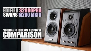 Swans HiVi M200 MKIII+ vs Edifier S2000Pro      Sound & Frequency Response Comparison