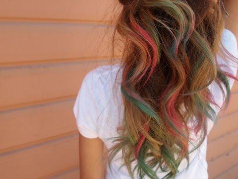 diy rainbow hair art trusper