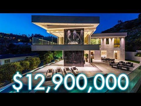 Inside $12,900,000 HOLLYWOOD HILLS Modern Mansion