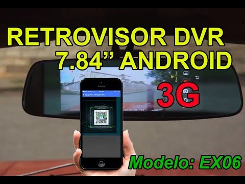 Retrovisor Android ADAS GPS Tracker 7.84'' con 3G modelo EX06