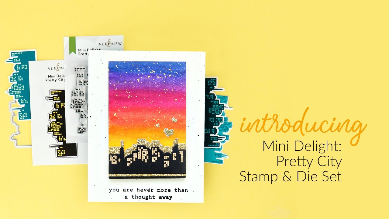 Altenew Mini Delight: Pretty City -leimasin- ja stanssisetti