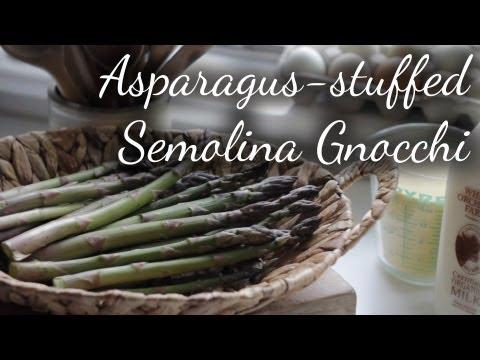 Asparagus-Stuffed Semolina Gnocchi   Kitchen Vignettes   PBS Food