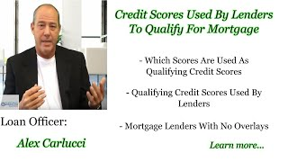 What are the Credit Scores Used By Lenders To Qualify For Mortgage
