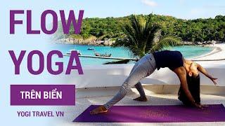 Bài tập Flow Yoga trên biển