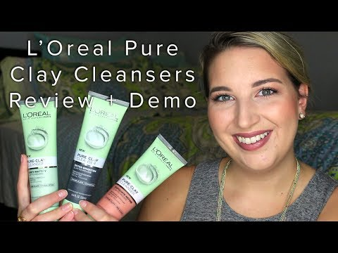 L'Oreal Pure Clay Cleansers | Review & Demo