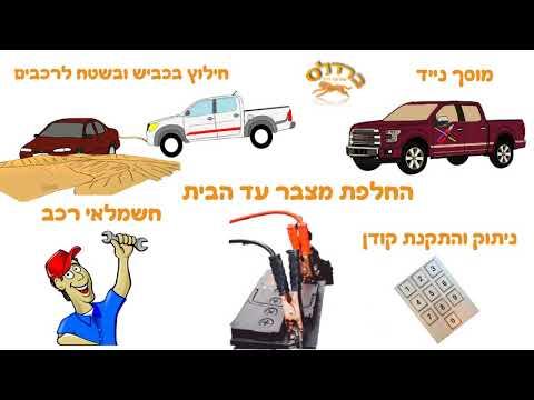 שירותי גרירה ? מוסך נייד ? שירותי דרך וגרירה - סרטון אנימציה - להזמנות -0526929141