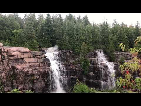Rainy afternoon waterfalls on Cadillac MT