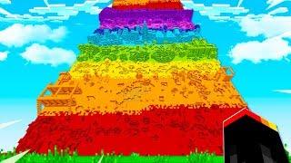I CLIMB MINECRAFT'S TALLEST WALL! (MCPE)
