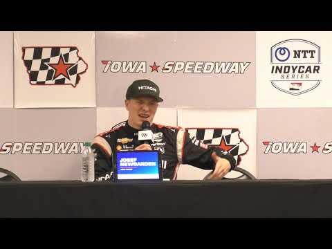 2019 Iowa 300 IndyCar Post-Race Q&A: Newgarden