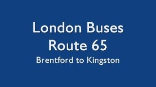 preview picture of video 'London Buses Route 65'