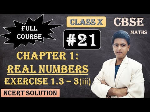 CBSE Full Course | 1 - Real Numbers | Exercise 1.3 : 3) Prove that the following are irrationals: iii) 6 + √2