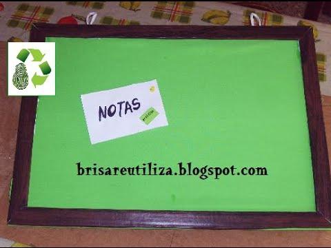 Como hacer cartelera (Reciclaje) Ecobrisa