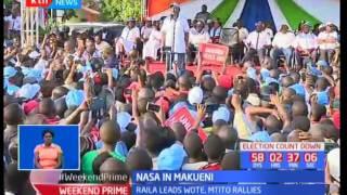 NASA presidential aspirant Raila Odinga leads his co-principals in campaigns in Makueni