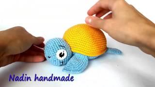Морская черепашка. Черепашка вязаная крючком.  Turtle. Crocheted Sea Turtle