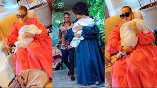 WolperStylish Showing Off her newborn son with Rich mitindo