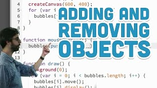6.5: Adding and Removing Objects - p5.js Tutorial
