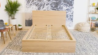How To Build An Ikea MALM Bed Frame | How To | House Beautiful