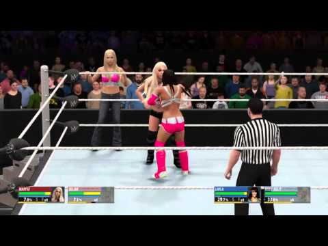WWE 2k16 Main Event Jillian and Maryse vs Layla and Kelly Kelly