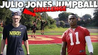 JULIO JONES ENDZONE JUMP BALL CHALLENGE!! IRL Football Challenge (1v1v1v1)