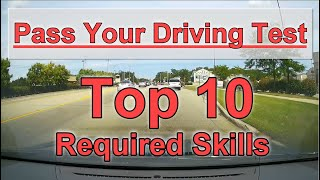 10 Required Driving Maneuvers for the Behind the Wheel Road Test
