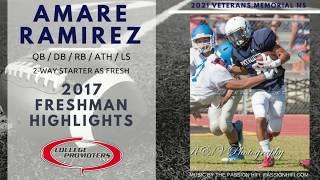 Profile - Football - 2021 - Amare Ramirez - College