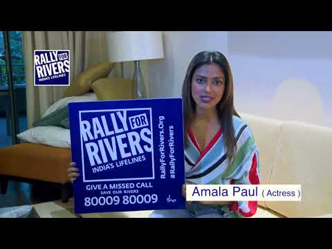 Amala Paul for Rally for Rivers