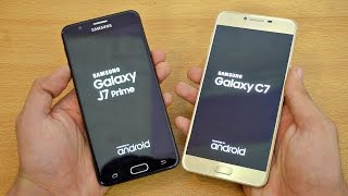 Samsung Galaxy J7 Prime vs Galaxy C7 - Speed Test! (4K)