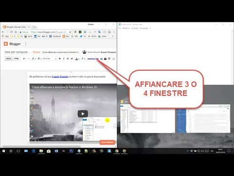 Come affiancare e ancorare le finestre in Windows 10